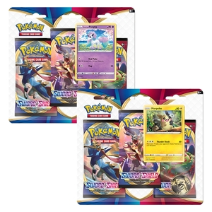 Pokemon TCG Sword & Shield 1 Three Booster Blister [Includes 1]