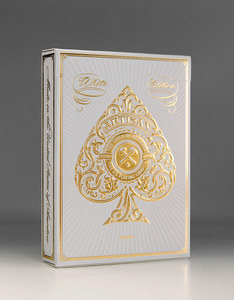 THEORY11 ARTISAN WHITE PLAYING CARDS