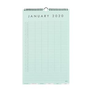 kikki.K 2020 Family Wall Calendar Small Essentials Multi-Color