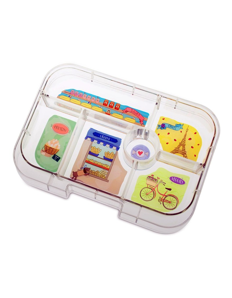 yumbox bijoux purple 6 compartments lunch box lunch boxes lunch bento boxes stationery. Black Bedroom Furniture Sets. Home Design Ideas