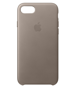 Apple Leather Case Taupe For iPhone 7