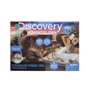 Discovery Mindblown Dinosaur Excavation Kit T-Rex & Velociraptor