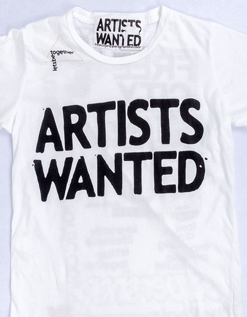 Artists Wanted Invitesimple White T-Shirt