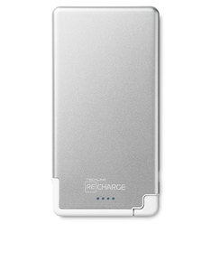 Techlink Recharge Ultrathin 5000Mah Silver/White Lightning Power Bank