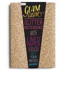 Ooly Glamtastic Glitter Notebooks Gold [Set of 3]