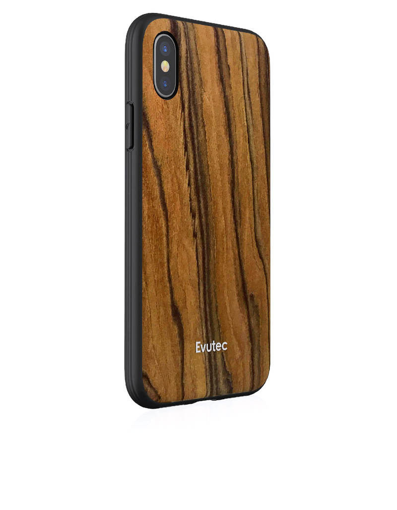 evutec aer wood with afix case rosewood for iphone x