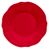 Baroque & Rock Soup Plate Diam 23 Cm Red