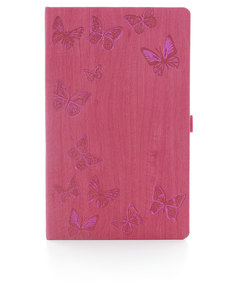 Ivory Butterfly Pink Desk Notebook