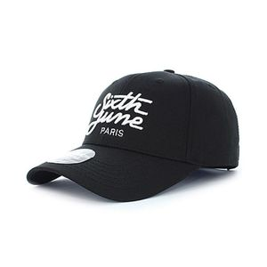 Sixth June Curved Cap With Logo Black