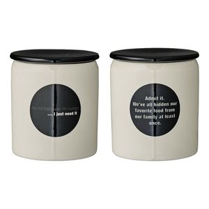 Bloomingville Catherine It's Not Because I'm Hungry/Admit Its Jars with Lid White/Black