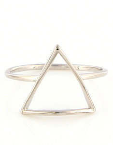 Oh Hello Friend Triangle Silver Ring