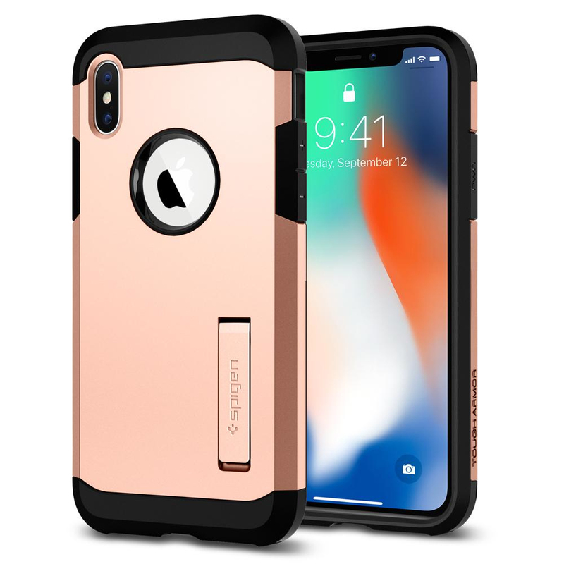 save off 34ae6 37a91 Spigen Tough Armor Case Rose Gold for Iphone X