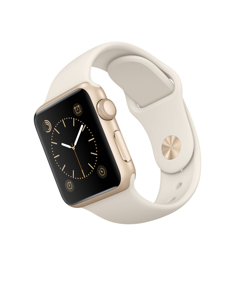 Apple Watch Sport 38mm Gold Aluminum Case White Band