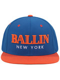 Alex & Chloe Ballin New York Blue/Orange Snapback Cap