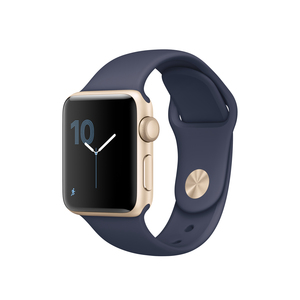 Apple Watch Series 2 38mm Sport Midnight Blue With Gold Aluminium Case