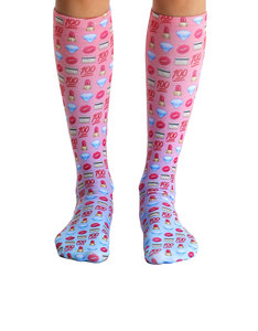 Living Royal Boss Emoji Knee High Socks