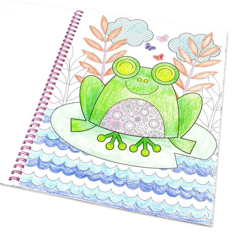 International Arrivals Cozy Critters Color-In Book