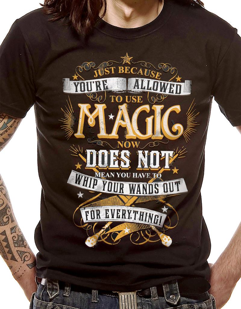 6153ab67 Cid Harry Potter Magic Wands Black Men'S T-Shirt M | Virgin Megastore