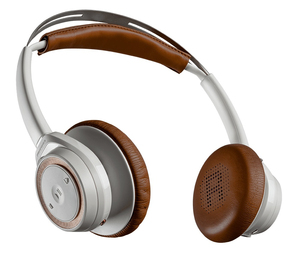 Plantronics Backbeat Sense White/Brown With MIc Wireless Headphones