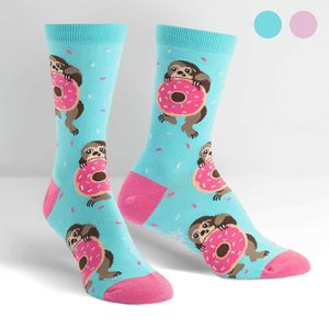 Sock It To Me Women's Crew Snackin' Sloth Socks