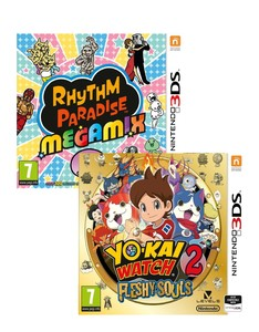 Yo-Kai Watch 2 Fleshy Souls + Rhythm Paradise [Bundle]