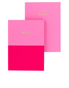 Go Stationery Colourblock Candy/Cerise Pink Duo A6 Set Of 2 Notebooks