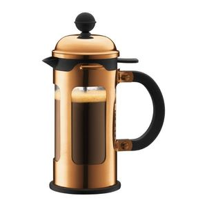 Bodum Chambord French Press Coffee Maker With Stopper Copper 0.35L