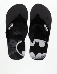 Batman Logo Black/White Men's Flip Flops