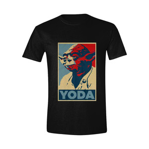 Time City Star Wars Yoda Poster Charcoal Men's T-Shirt
