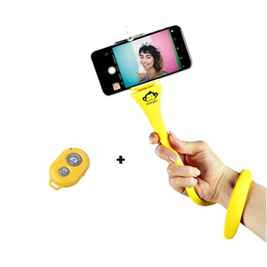 Monkey Stick Flexi Selfie Stick Yellow