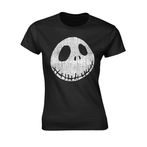 Nightmare Before Christmas Cracked Face Women's T-Shirt Black