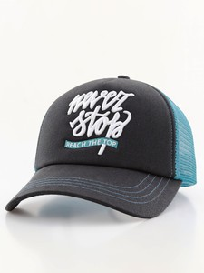 B180 Never Stop Reach The Top Black/Turquoise Unisex Cap