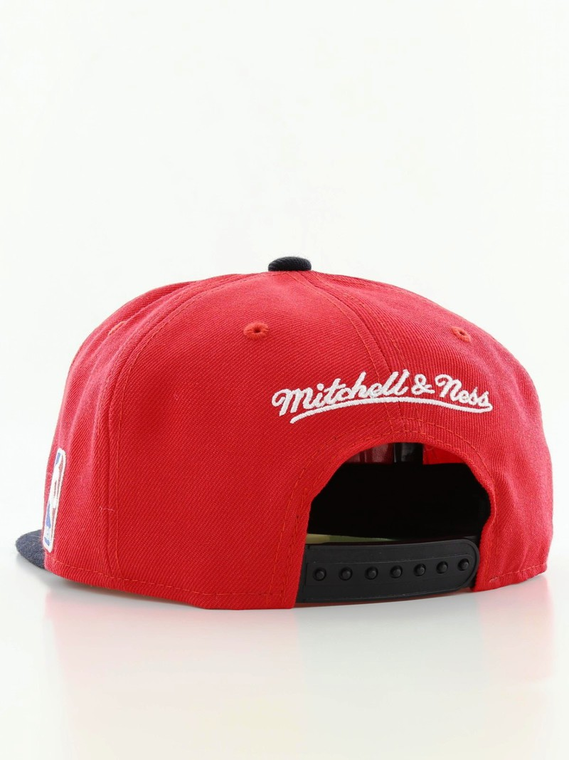 f4865a11 ... best mitchell ness chicago bulls xl logo 2 tone snapback mens cap red  58322 63757