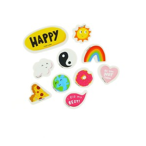 Happy News Erasers [Set of 10]