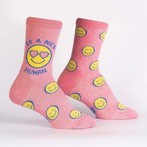 Sock It To Me Women's Crew Be A Nice Human Socks