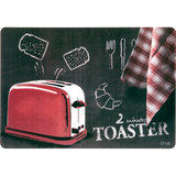 Orval Creations Design Rouge Ardoise Red Placemat