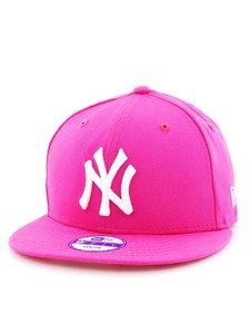 New Era MLB League Basic NY Yankees Youth Cap Pink f62bbbd5773e