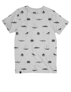 Dedicated Seaside Grey Melange T-Shirt