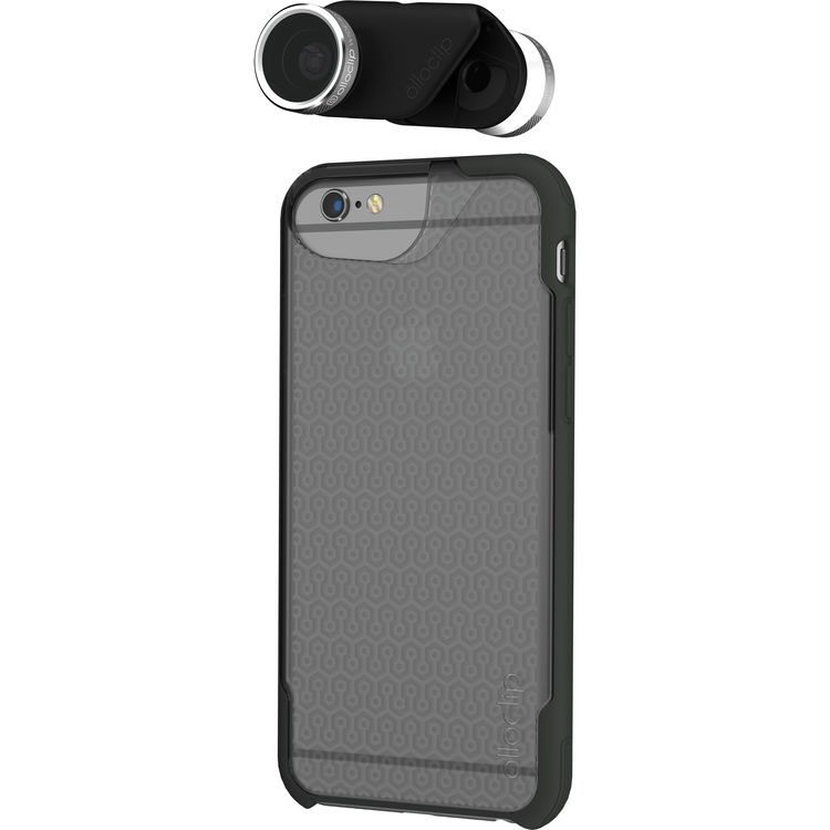 Olloclip 4 In 1 Lens & Ollocase Bumper Clear Back/Dark Grey Iphone 6 Plus
