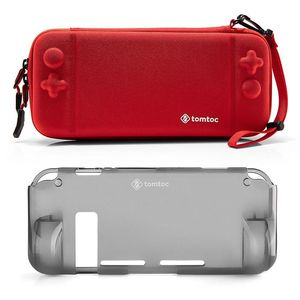 tomtoc Hard Shell Case Red With Grip Back Cover for Nintendo Switch