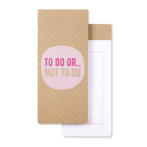 Go Stationery To Do Or Not To Do Kraft Typo To Do List