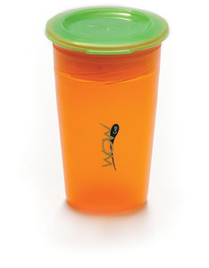 Wow Gear Juicy Wow Cup Orange Cup / Green Valve / Freshness Lid 266 ml