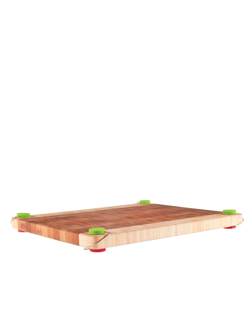 Dreamfarm Chobs Meat Red & Veg Green Chopping Board Feet