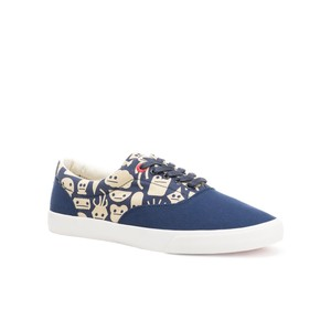 Bucketfeet Shapes With Faces Navy Low Top Canvas Lace Men's Shoes