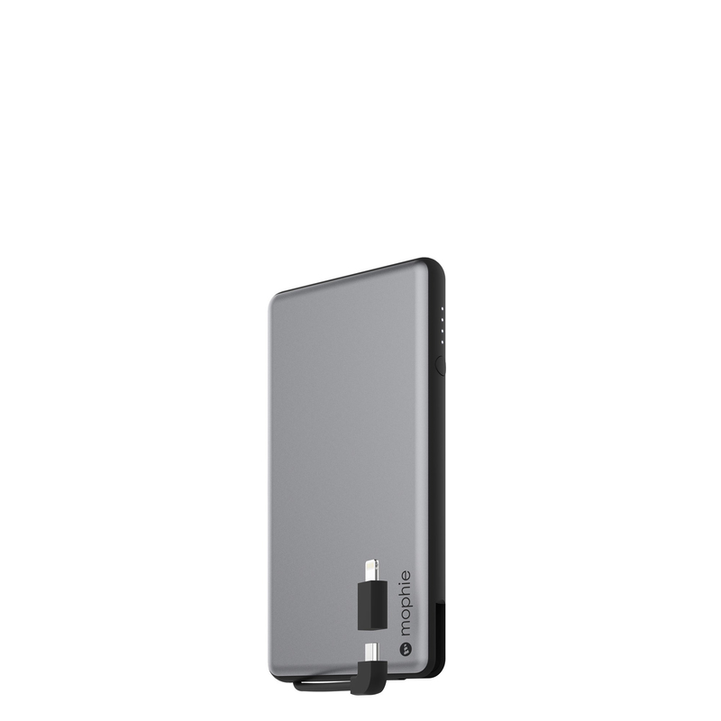mophie powerstation plus space grey 6000mah with lightning. Black Bedroom Furniture Sets. Home Design Ideas