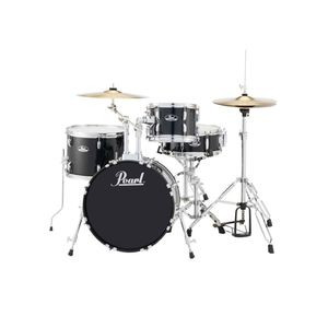 Pearl Road Show 4 Piece Drum Set with Cymbals & Hardware Jet Black 1812B/1007T/1410F/1350S