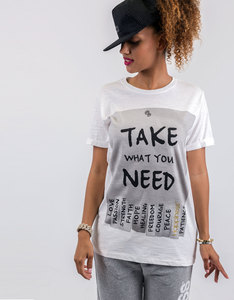 Happiness Take What You Need Basic Flammed T-Shirt