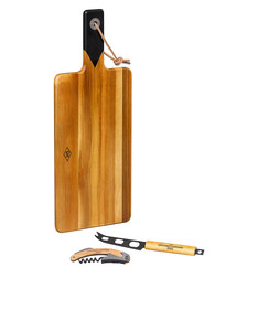 Gentlemen's Hardware Cheese Board & Knife Set with Bottle Opener