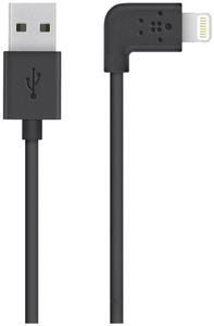 Belkin 90 Degree Sync/Charge Lightning Cable Black