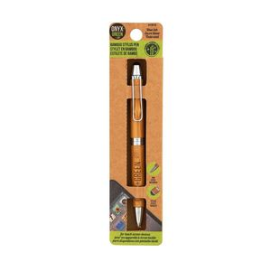 Onyx & Green 2 In 1 Stylus Pen Made From Bamboo 0.7 mm Eco Friendly